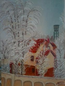 Picturi de iarna Sub greutatea chiciurei