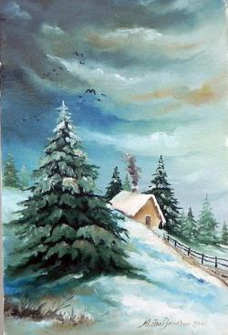 Picturi de iarna Brazi iarna