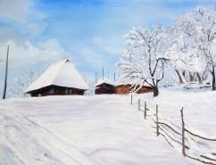 Picturi de iarna Iarna la cabana