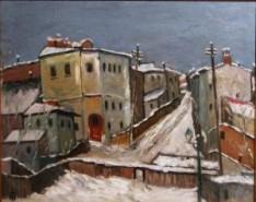 Picturi de iarna Iarna in bucuresti