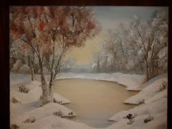 Picturi de iarna Totul a inghetat