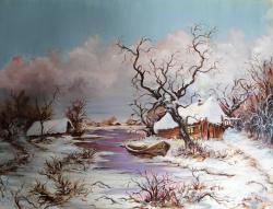 Picturi de iarna Cabana pustie