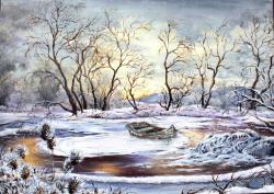 Picturi de iarna Flori de gheata
