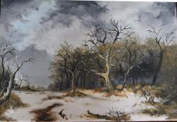 Picturi de iarna Nori iarna