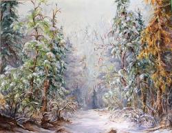 Picturi de iarna Spre padure....