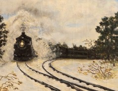Picturi de iarna Trenul