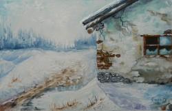 Picturi de iarna Casa parasita