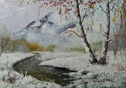 Picturi de iarna Gheata la mal