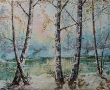 Picturi de iarna In amurg