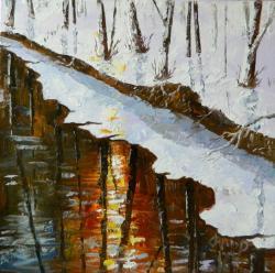 Picturi de iarna in oglinda