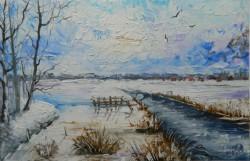 Picturi de iarna Peste sat