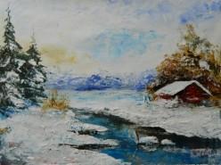 Picturi de iarna Spre seara