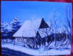 Picturi de iarna Casa si iarna