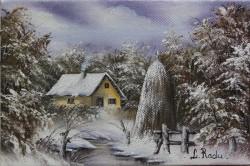 Picturi de iarna Casa cu capita