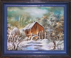 Picturi de iarna Iarna a venit (cu rama)
