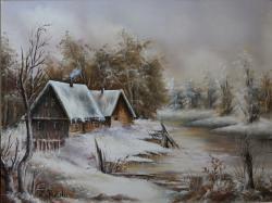 Picturi de iarna Liniste de Iarna