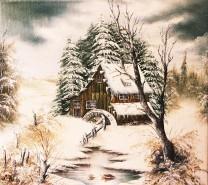 Picturi de iarna Moara inghetata