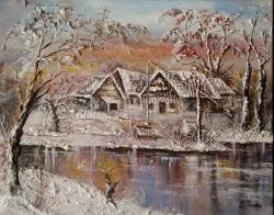 Picturi de iarna Pribeaga iarna