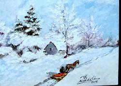 Picturi de iarna Sania bunicului