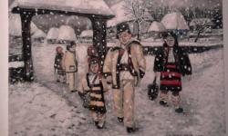 Picturi de iarna La colindat
