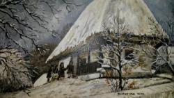 Picturi de iarna La colindat prin sat