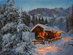 Picturi de iarna Muntii Wetterstein Germania