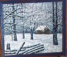 Picturi de iarna Cabana padurarului
