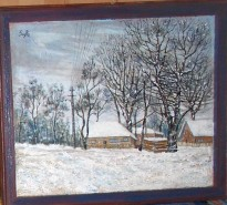 Picturi de iarna La marginea satului