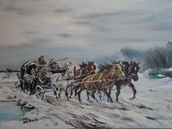 Picturi de iarna trasura prin nameti