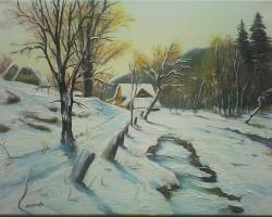 Picturi de iarna iarna pe ulita.