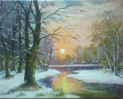 Picturi de iarna prima zi de iarna .