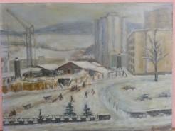 Picturi de iarna Iarna in manastur 85