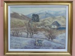 Picturi de iarna Iarna la stana