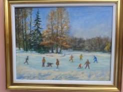 Picturi de iarna Iarna pe lac chios