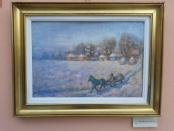 Picturi de iarna La margine de sat