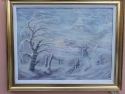 Picturi de iarna Viscol cluj
