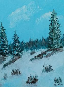 Picturi de iarna Cei trei brazi