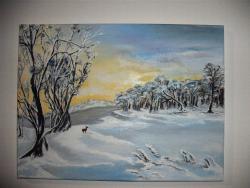 Picturi de iarna Peisaj rece