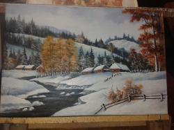 Picturi de iarna Iarna bogata 2