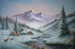 Picturi de iarna Iarna la munte
