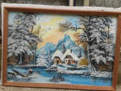 Picturi de iarna stralucirea zapezii