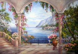 Picturi de primavara Liniste inflorita