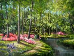 Picturi de primavara Nostalgii romantice