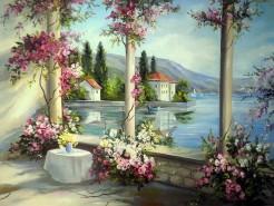 Picturi cu peisaje Timpul florilor