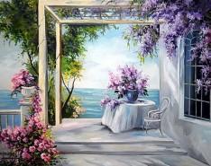 Picturi de primavara Zori albasrtri