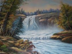 Picturi de primavara Cascada din padure