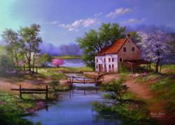 Picturi de primavara Peisaj primavara