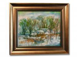 Picturi de primavara Sat de Pescari Iarna