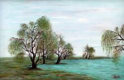 Picturi de primavara Primavara.romanesca.peisaj.cu.saclii