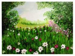 Picturi de primavara La brat cu natura